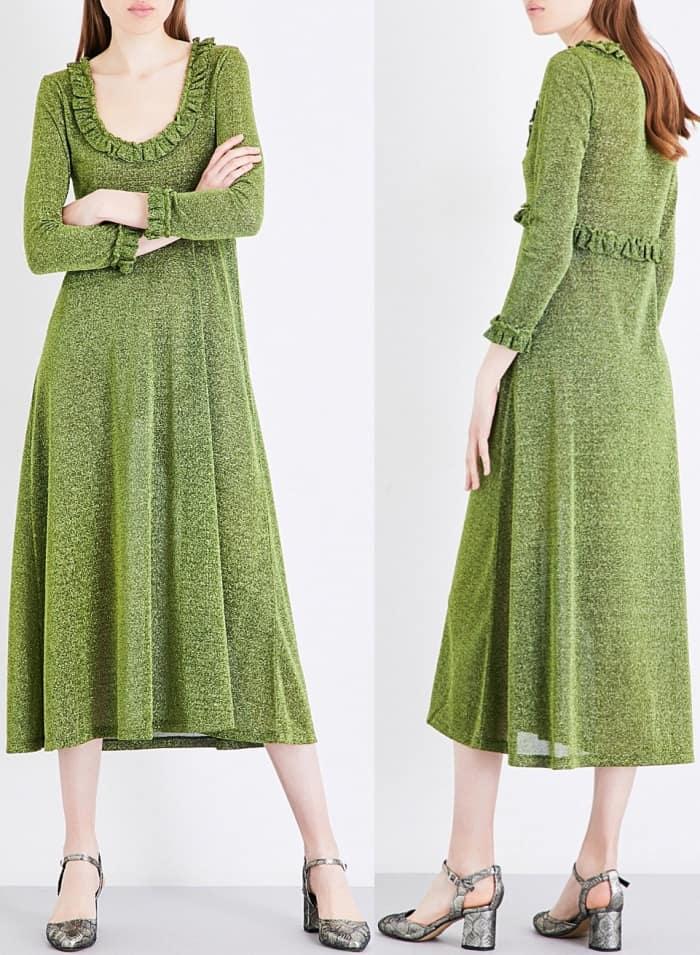 AlexaChung frill trim dress
