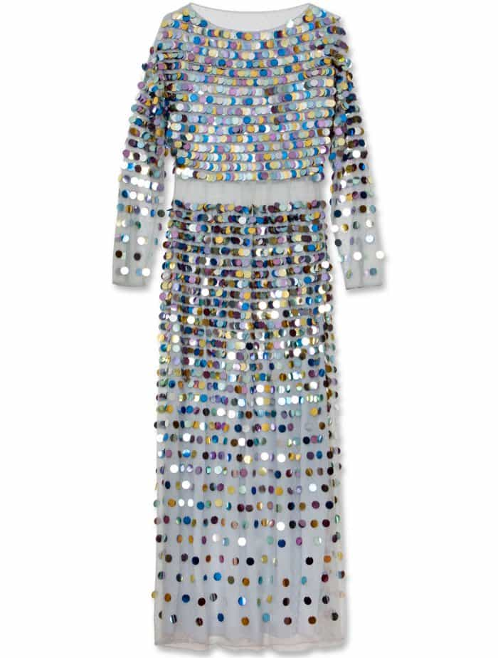 AlexaChung sequin maxi dress