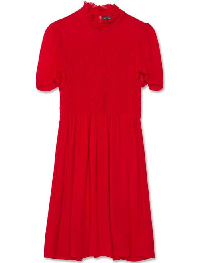 AlexaChung smocked dress