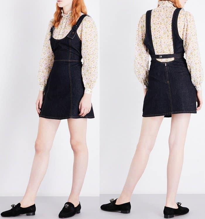 AlexaChung strap-detailed denim dress