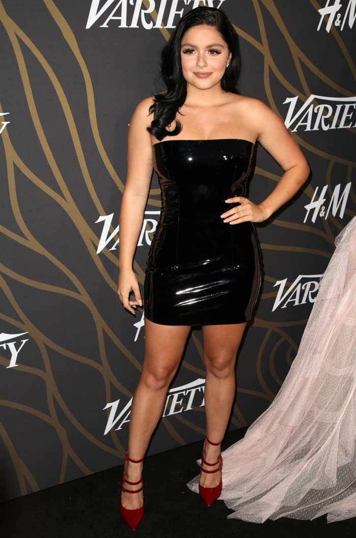 Ariel Winter paired her leather tube dress with sexy red heels at Variety's Power of Young Hollywood event.