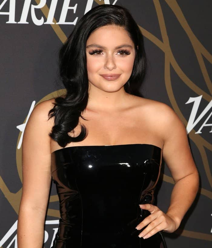 Ariel Winter wearing a tube dress at Variety's Power of Young Hollywood event.