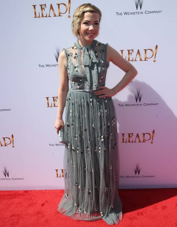 Carly Rae Jepsen attending the premiere of The Weinstein Company's 'Leap!'.