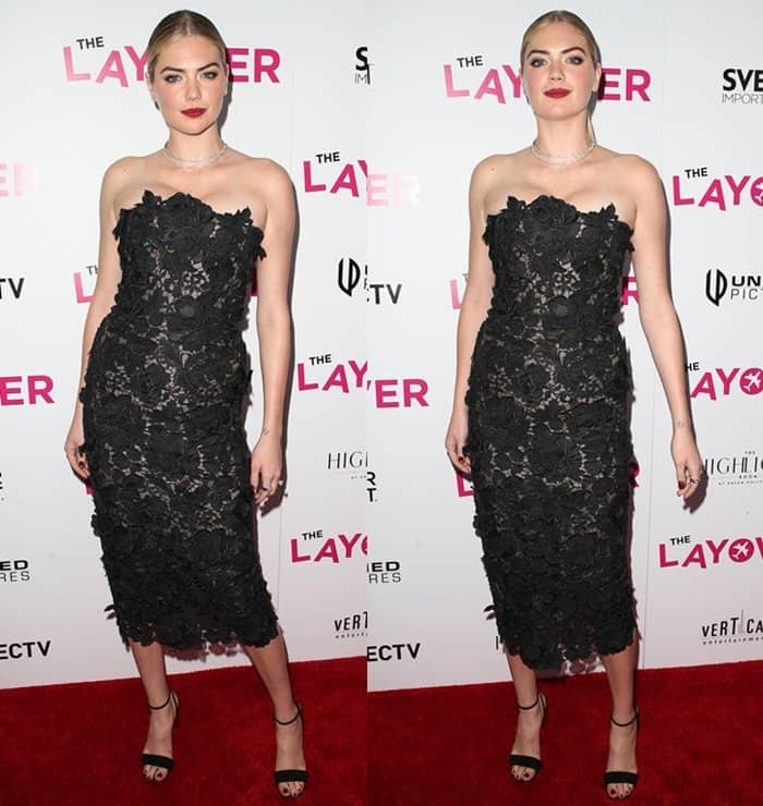 Kate Upton attends 'The Layover' premiere in Hollywood.