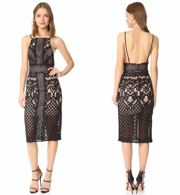 Keepsake Bridges Lace Midi Dress