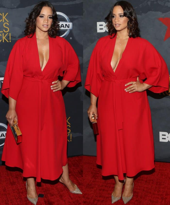 Dascha Polanco wearing a Tome Pre-Fall 2017 dress at the 2017 Black Girls Rock! Awards
