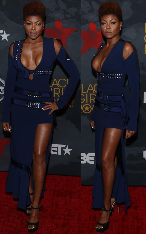 Taraji P. Henson wearing a David Koma Fall 2017 dress at the 2017 Black Girls Rock! Awards