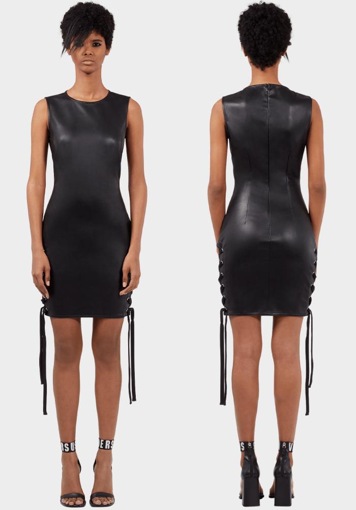 ZAYN x Versus lateral lace-up mini dress