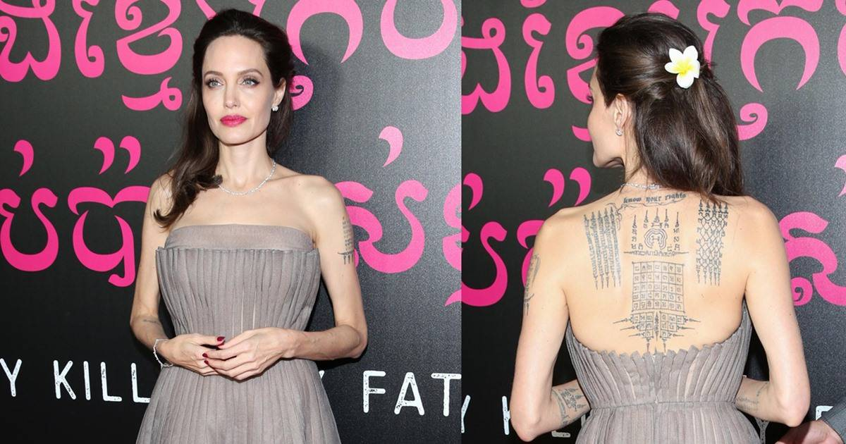 Angelina Jolie Pairs Christian Dior Gown with Meaningful Flower