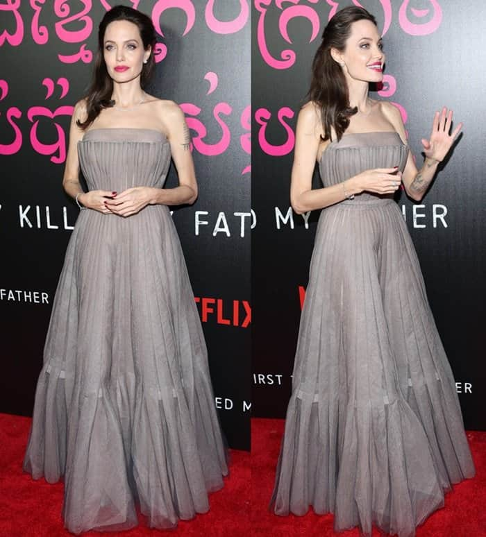 Angelina Jolie attends the NY premiere of 'First They Killed My Father'.