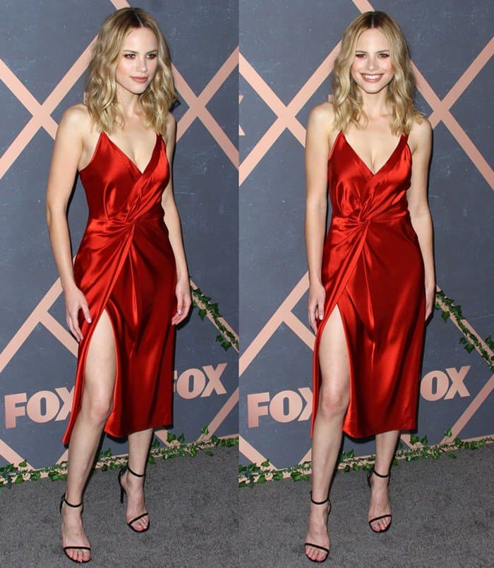 Halston Sage flaunts her legs at the FOX Fall Premiere Party held at Catch LA in West Hollywood on September 26, 2017