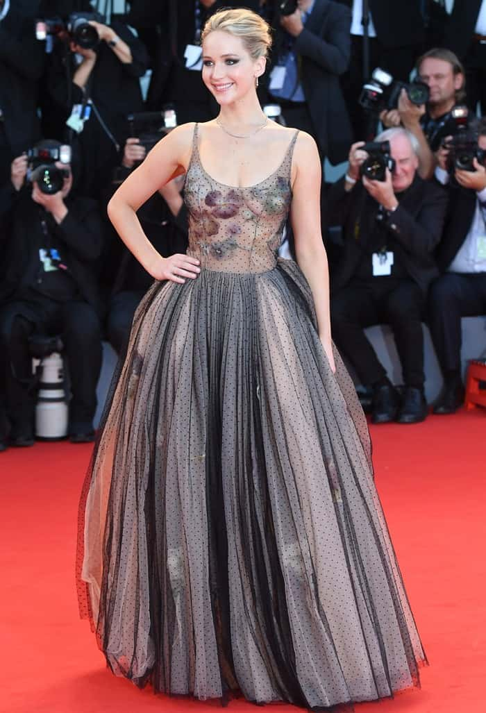 Jennifer Lawrence looked like a modern-day princess in this Christian Dior ball gown