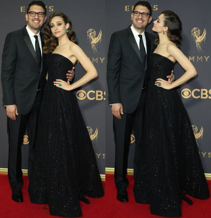 Emmy Rossum with husband Sam Esmail at the 69th Emmy Awards