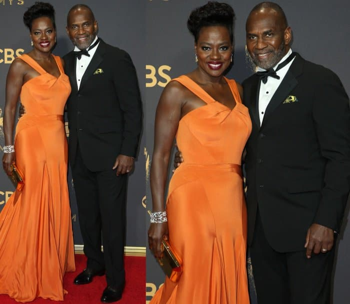 Viola Davis with husband Julius Tennon at the 69th Emmy Awards