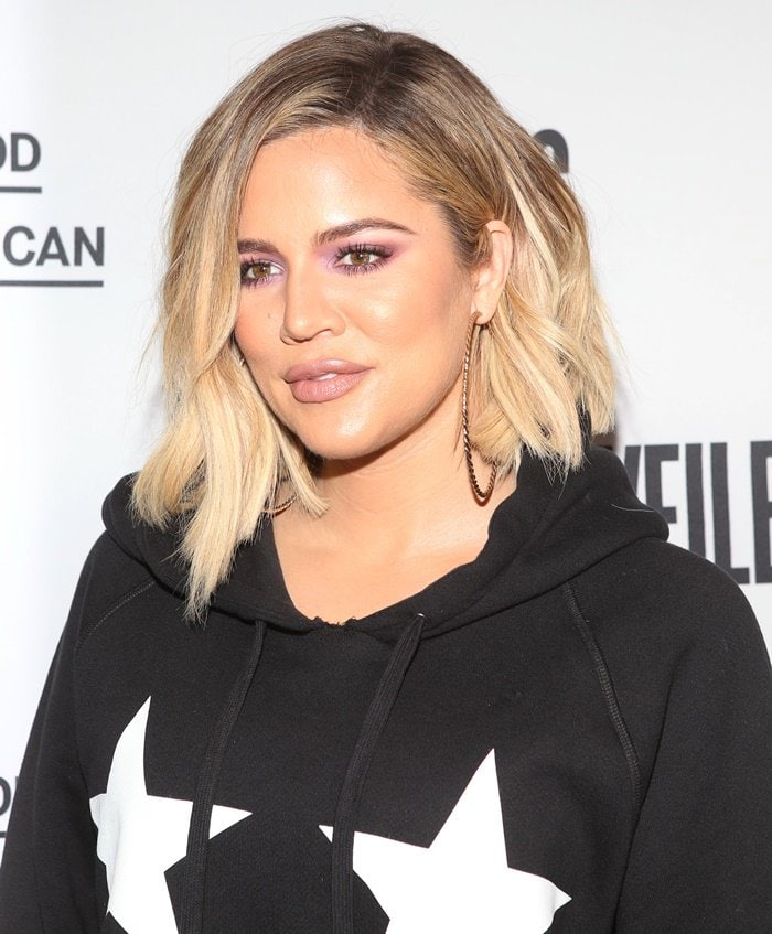 Khloe Kardashian attends the VFiles and Good American launch party in New York.