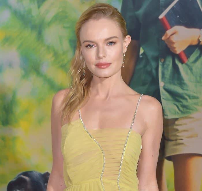 Kate Bosworth wears yellow dress at the premiere of National Geographic's 'Jane'.