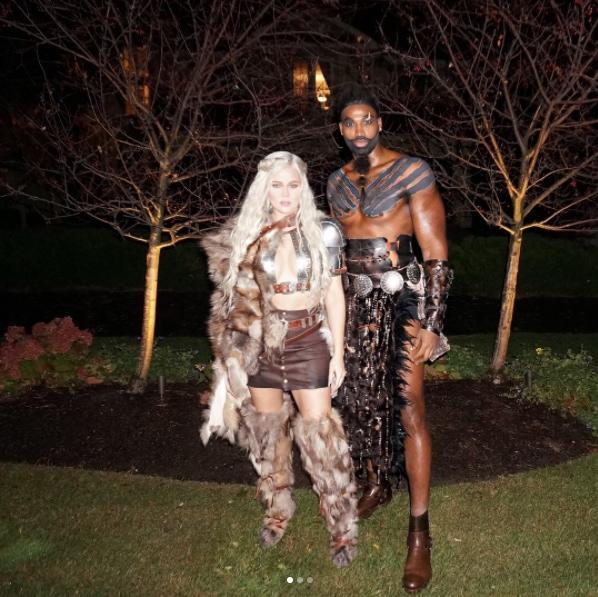 Khloe Kardashian and Tristan Thompson dress up as Khaleesi and Khal Drogo for Halloween.