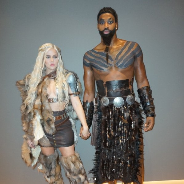 Couple Khloe Kardashian and Tristan Thompson as Game of Thrones characters for Halloween.