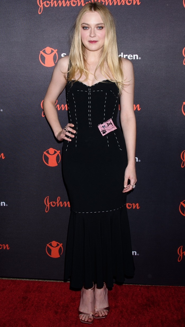 Dakota Fanning at the 2017 Save the Children Illumination Gala at The American Museum of Natural History in New York City on October 18, 2017