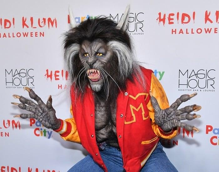 Heidi Klum went as the werewolf in Michael Jackson's