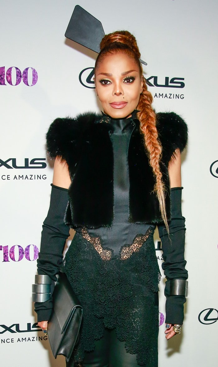 Janet Jackson in a David Ferreira dress at the Out100 event at the Altman Building in New York City on November 9, 2017