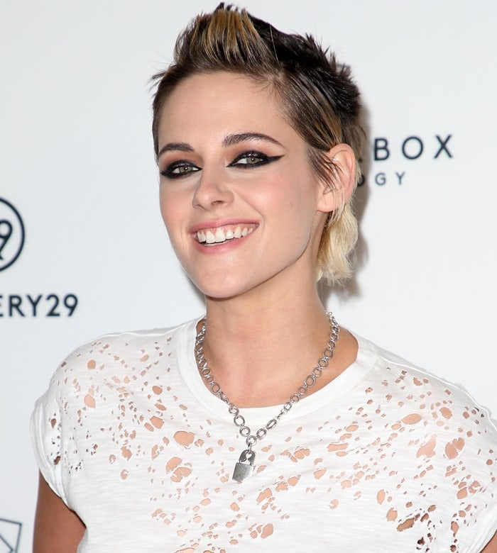Kristen Stewart at a screening of her new movie 'Come Swim' at The Landmark in Los Angeles on November 9, 2017