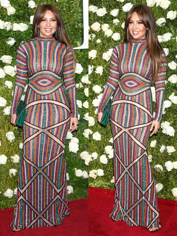 Thalia at the71st Annual Tony Awards held at Radio City Music Hall in New York City on June 11, 2017.
