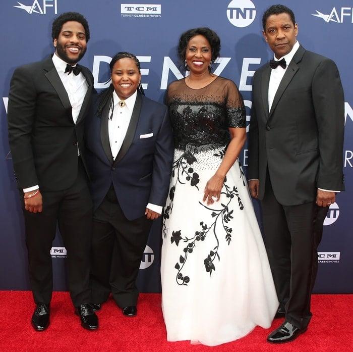 Malcolm Washington and Katia Washington joined their parents, Pauletta Washington and Denzel Washington, at the American Film Institute's 47th Life Achievement Award Gala Tribute to Denzel Washington