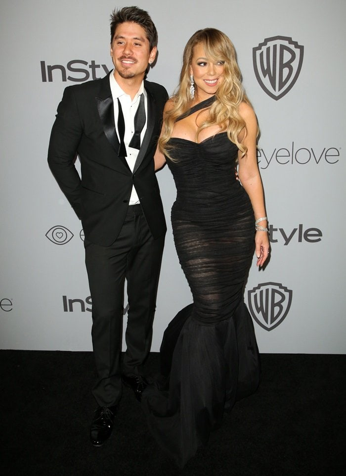 Mariah Carey and Bryan Tanaka having fun at the InStyle and Warner Bros. Party held after the 2018 Golden Globe Awards at the Beverly Hilton Hotel in Beverly Hills, California, on January 7, 2018
