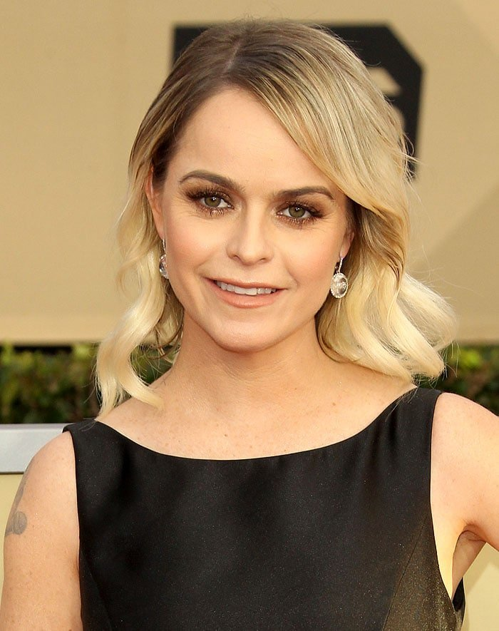 Taryn Manning arriving at the 2018 Screen Actors Guild Awards held at The Shrine Auditorium in Los Angeles, California, on January 21, 2018.