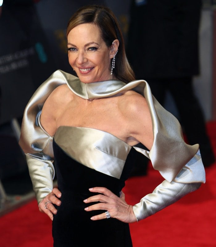 Allison Janney wearing a two-tone Bibhu Mohapatra Fall 2018 gown