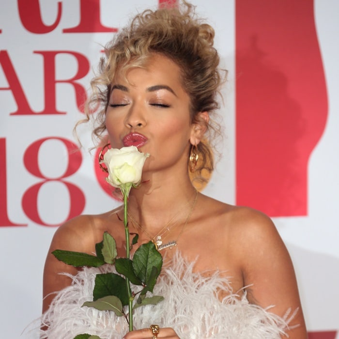 Rita Ora did not understand why she had to bring a white rose to the Brit Awards