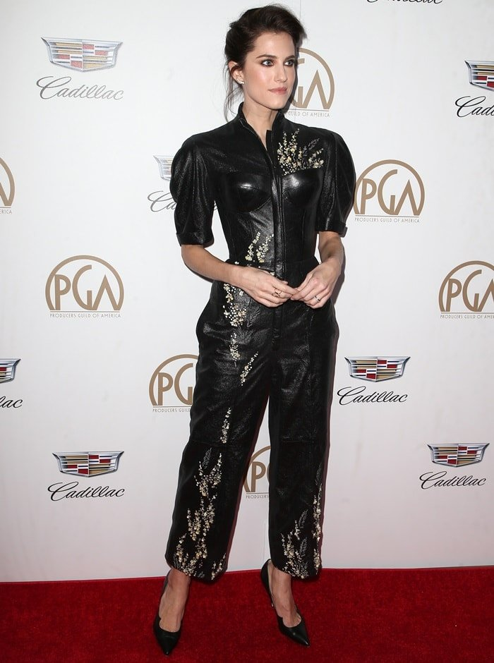 Allison Williams in jumpsuit from Ulyana Sergeenko's Fall 2014 Couture collection
