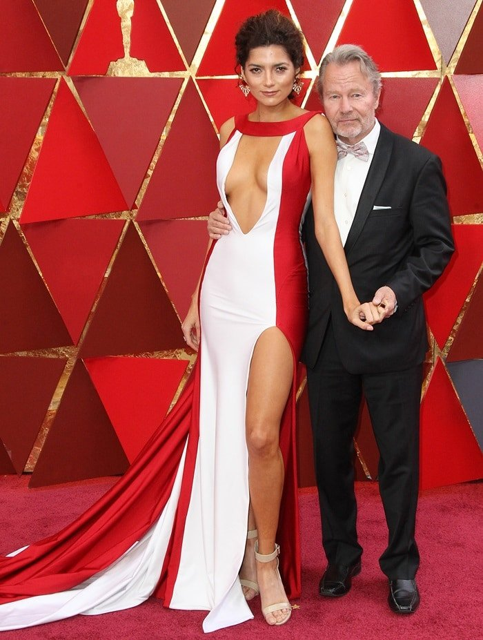 Blanca Blanco and John Savage at the 2018 Oscars at the Hollywood & Highland Center in Hollywood