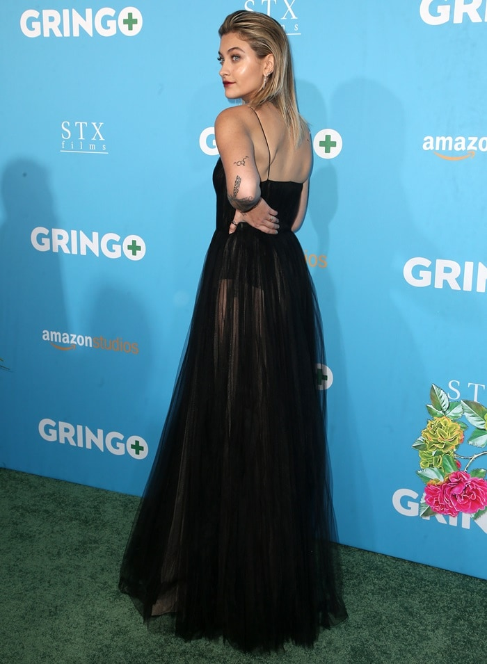 Paris Jackson in a Valentino dress at the 'Gringo' premiere