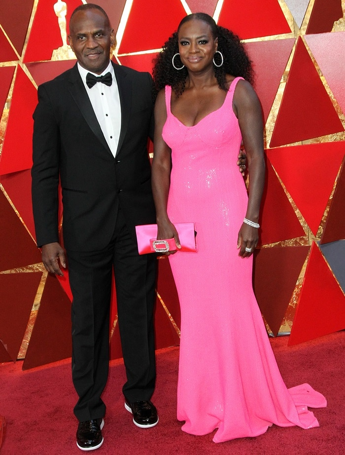 Viola Davis and Julius Tennon at the 2018 Oscars
