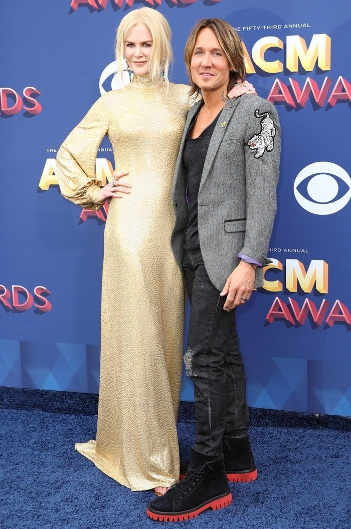 Keith Urban and Nicole Kidman at the 2018 Academy of Country Music Awards at the MGM Grand Garden Arena in Las Vegas on April 15, 2018
