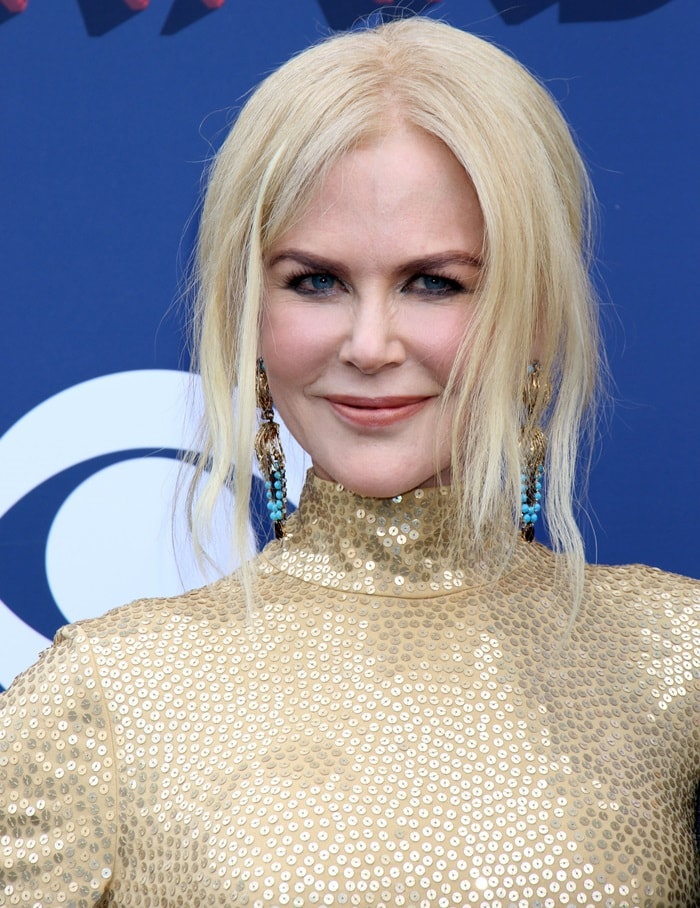 Nicole Kidman's Fred Leighton 1960 gold and turquoise pendant earrings