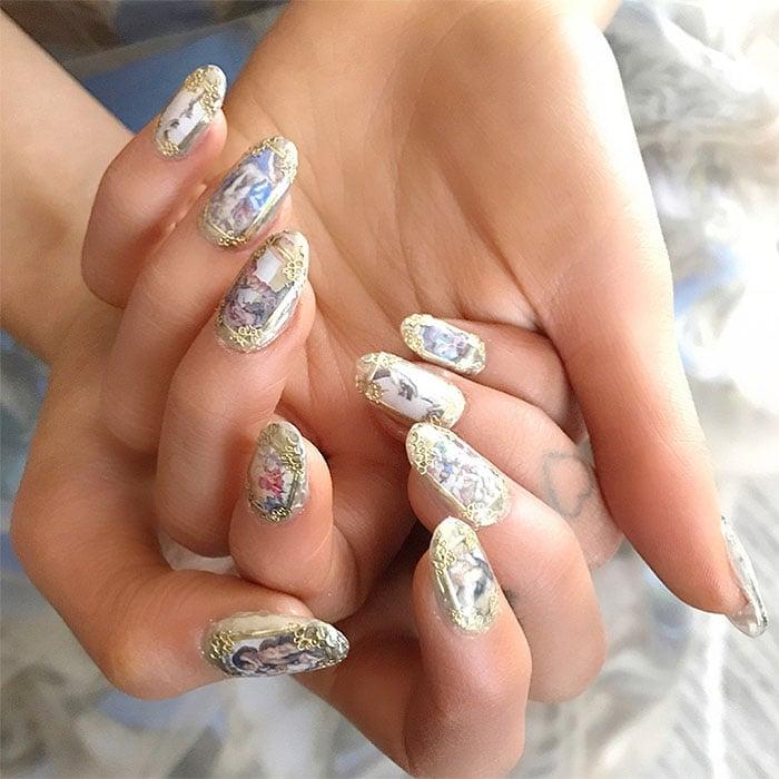 Ariana Grande's Sistine Chapel nails byNatalie Minerva of Nail Swag LA.
