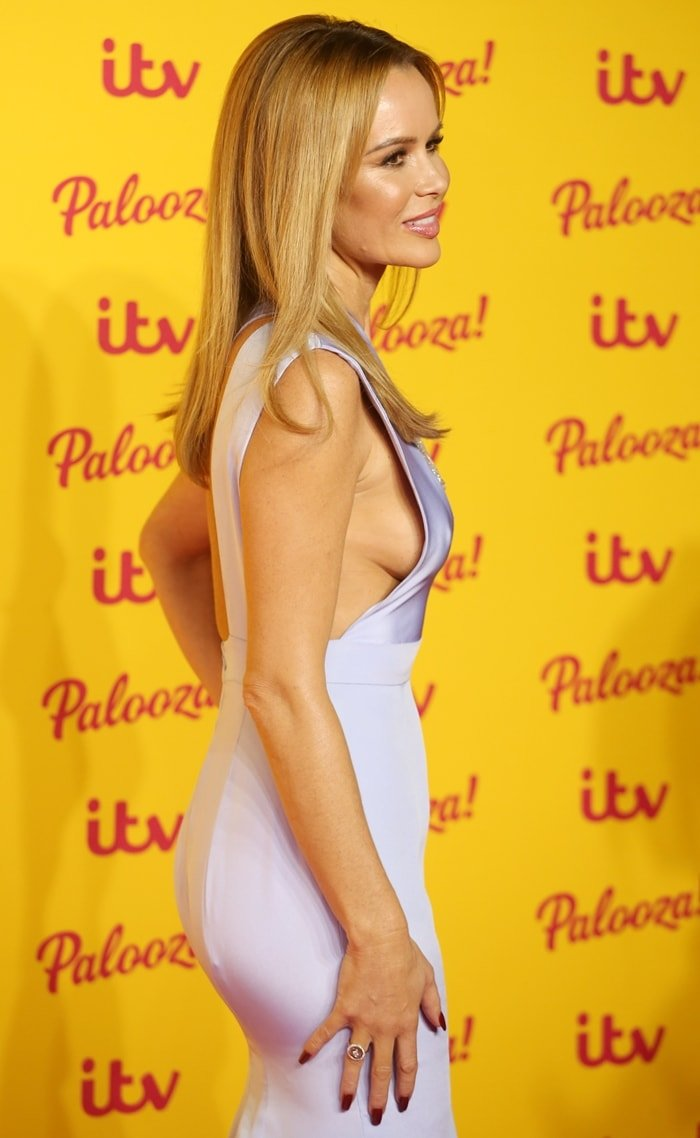 Amanda Holden attends the ITV Palooza! held at The Royal Festival Hall