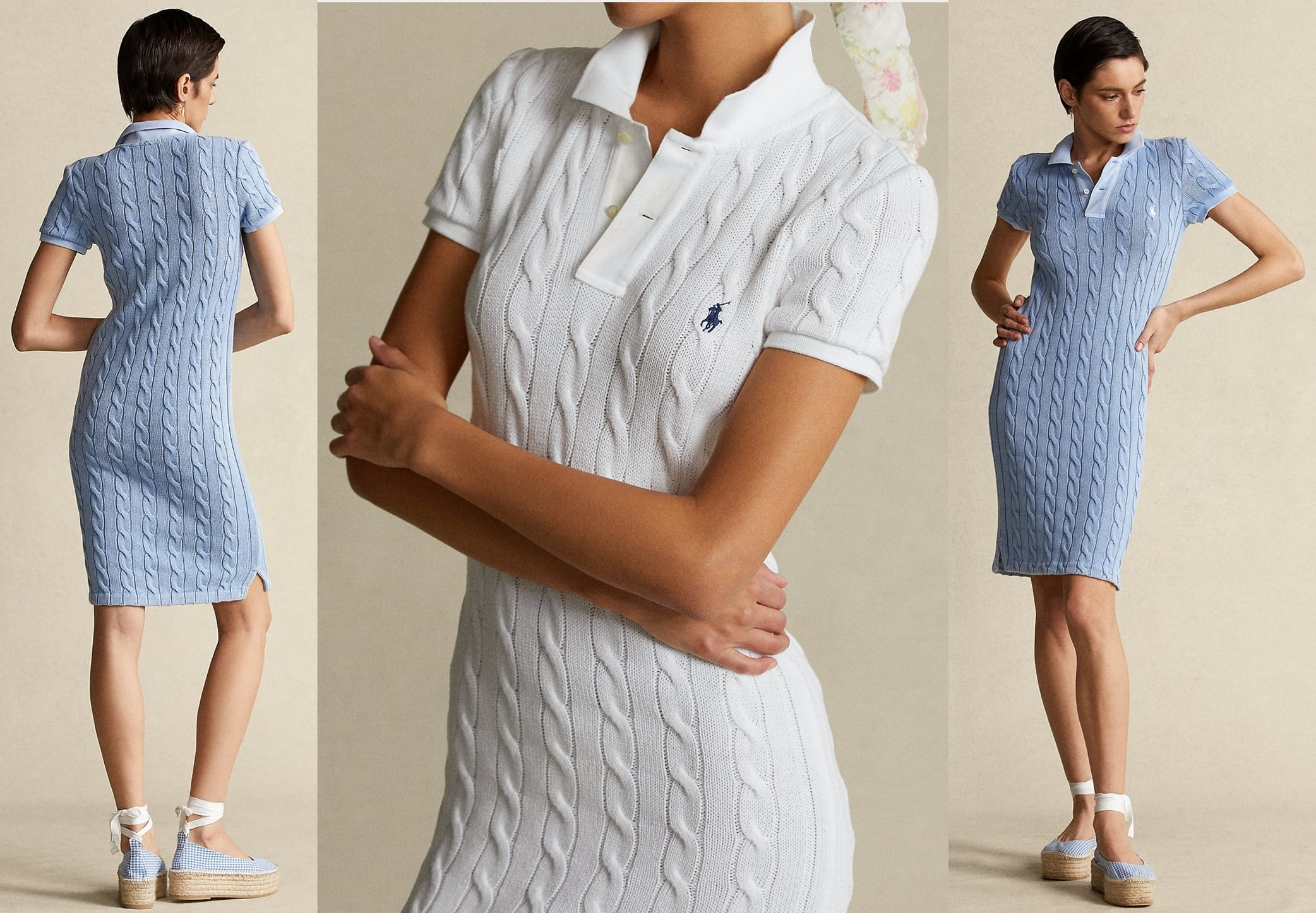 This versatile dress is crafted from soft combed cotton with our signature cable-knit construction