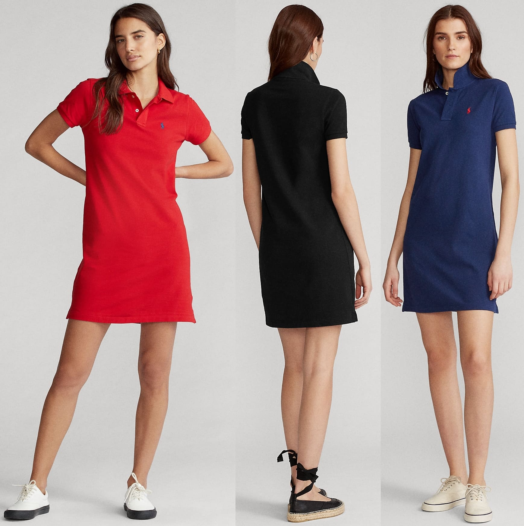 Ralph Lauren's iconic Polo shirt is reimagined for the season as a dress, cut from the same breathable cotton and finished with our signature embroidered Pony at the chest