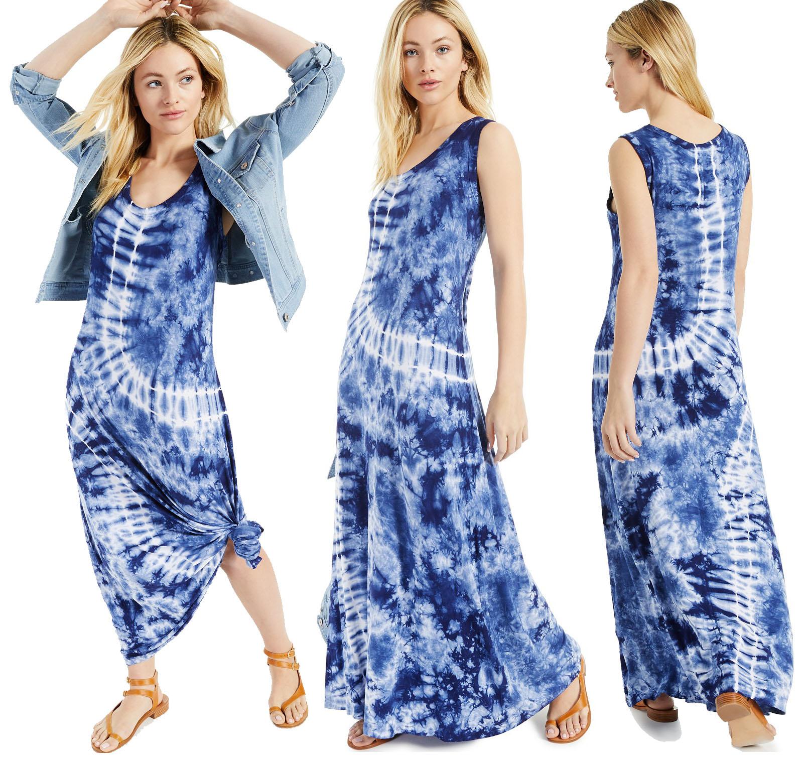 What is summer without a tie-dye print dress like Style & Co's tie-dye maxi dress in swing silhouette?