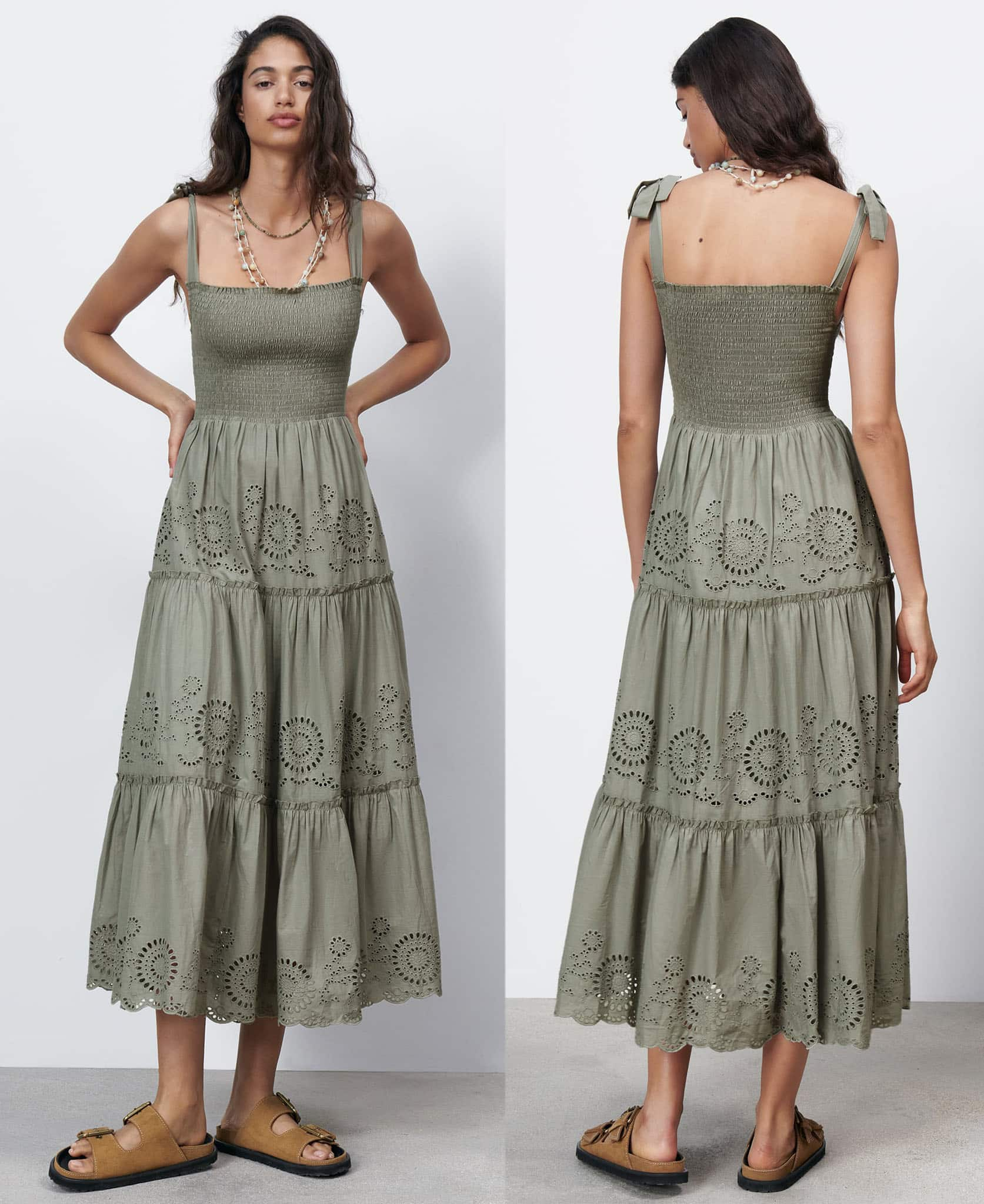 Whether for vacation, afternoon tea or wine with friends, Zara's openwork embroidered dress will keep you looking chic and fresh